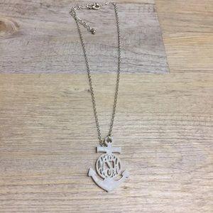 Jewelry - Acrylic anchor monogram necklace